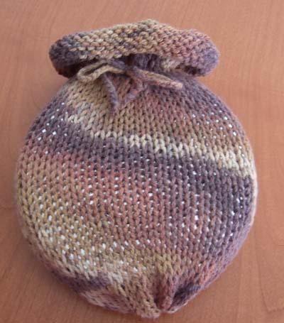 sacchetto borsa dell'acqua calda col mulinetto